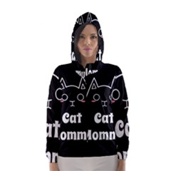 Love My Cat Mommy Hooded Wind Breaker (women) by Catifornia