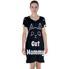 Love My Cat Mommy Short Sleeve Nightdress by Catifornia