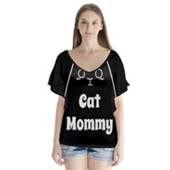 Love My Cat Mommy Flutter Sleeve Top by Catifornia