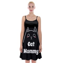 Love My Cat Mommy Spaghetti Strap Velvet Dress by Catifornia