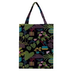 Wreaths Flower Floral Leaf Rose Sunflower Green Yellow Black Classic Tote Bag by Mariart