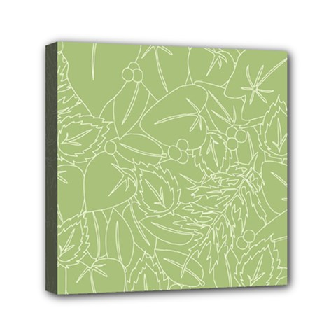 Blender Greenery Leaf Green Mini Canvas 6  X 6