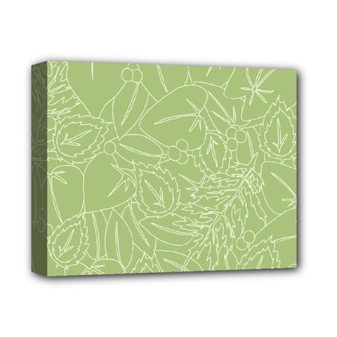 Blender Greenery Leaf Green Deluxe Canvas 14  X 11  by Mariart