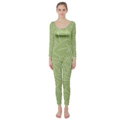 Blender Greenery Leaf Green Long Sleeve Catsuit