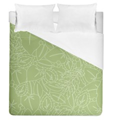 Blender Greenery Leaf Green Duvet Cover (queen Size) by Mariart