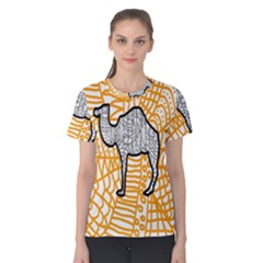 Animals Camel Animals Deserts Yellow Women s Cotton Tee by Mariart