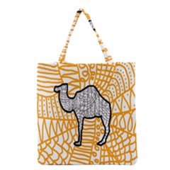 Animals Camel Animals Deserts Yellow Grocery Tote Bag by Mariart