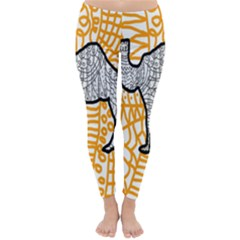 Animals Camel Animals Deserts Yellow Classic Winter Leggings by Mariart