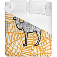 Animals Camel Animals Deserts Yellow Duvet Cover (california King Size) by Mariart