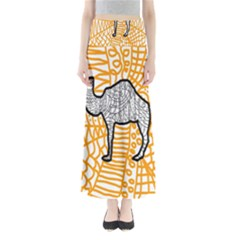 Animals Camel Animals Deserts Yellow Maxi Skirts by Mariart