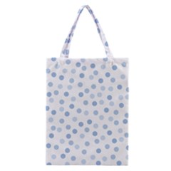 Bubble Balloon Circle Polka Blue Classic Tote Bag by Mariart