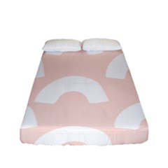 Donut Rainbows Beans Pink Fitted Sheet (full/ Double Size) by Mariart