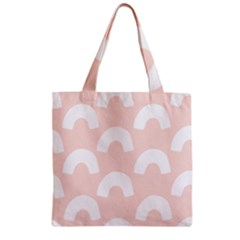 Donut Rainbows Beans Pink Zipper Grocery Tote Bag by Mariart