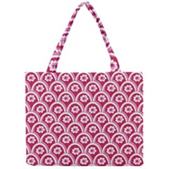 Botanical Gardens Sunflower Red White Circle Mini Tote Bag by Mariart