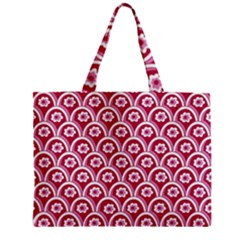 Botanical Gardens Sunflower Red White Circle Zipper Mini Tote Bag by Mariart