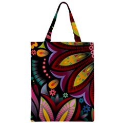 Flower Floral Sunflower Rose Color Rainbow Circle Polka Zipper Classic Tote Bag by Mariart