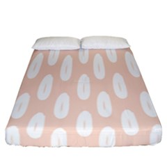 Donut Rainbows Beans White Pink Food Fitted Sheet (california King Size)