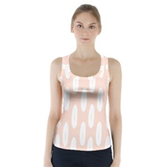 Donut Rainbows Beans White Pink Food Racer Back Sports Top