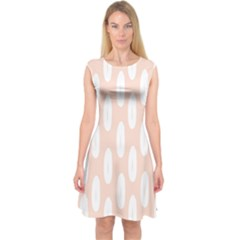 Donut Rainbows Beans White Pink Food Capsleeve Midi Dress by Mariart
