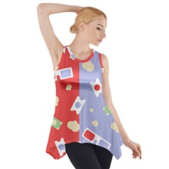 Glasses Red Blue Green Cloud Line Cart Side Drop Tank Tunic by Mariart
