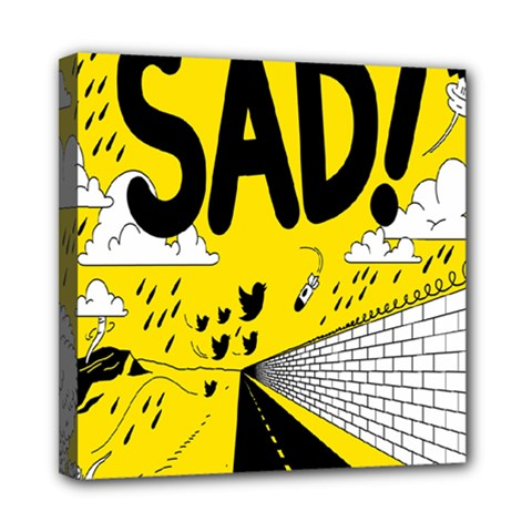 Have Meant  Tech Science Future Sad Yellow Street Mini Canvas 8  X 8  by Mariart