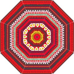 Fabric Aztec Red Line Polka Circle Wave Chevron Star Hook Handle Umbrellas (small) by Mariart