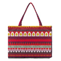 Fabric Aztec Red Line Polka Circle Wave Chevron Star Medium Tote Bag by Mariart