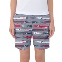 Fish Sea Beach Water Seaworld Animals Swim Women s Basketball Shorts by Mariart