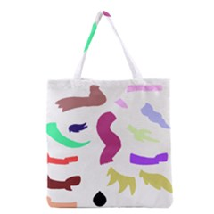 Plushie Color Rainbow Brown Purple Yellow Green Black Grocery Tote Bag by Mariart