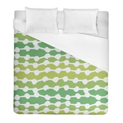 Polkadot Polka Circle Round Line Wave Chevron Waves Green White Duvet Cover (full/ Double Size) by Mariart