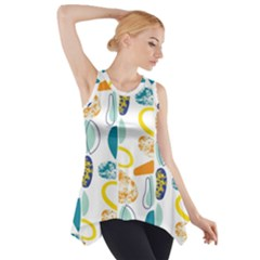 Pebbles Texture Mid Century Side Drop Tank Tunic by Mariart