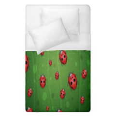 Ladybugs Red Leaf Green Polka Animals Insect Duvet Cover (single Size)