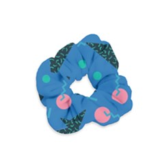 Seamless Triangle Circle Blue Waves Pink Velvet Scrunchie by Mariart