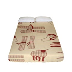 Sheep Goats Paper Scissors Fitted Sheet (full/ Double Size) by Mariart