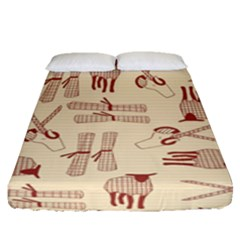 Sheep Goats Paper Scissors Fitted Sheet (queen Size) by Mariart
