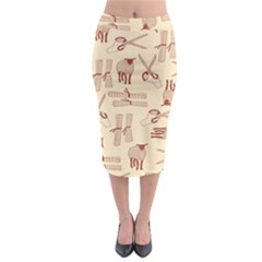 Sheep Goats Paper Scissors Midi Pencil Skirt by Mariart