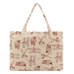 Sheep Goats Paper Scissors Medium Tote Bag by Mariart