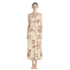 Sheep Goats Paper Scissors Chiffon Maxi Dress by Mariart