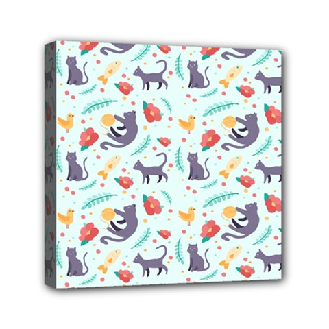 Redbubble Animals Cat Bird Flower Floral Leaf Fish Mini Canvas 6  X 6