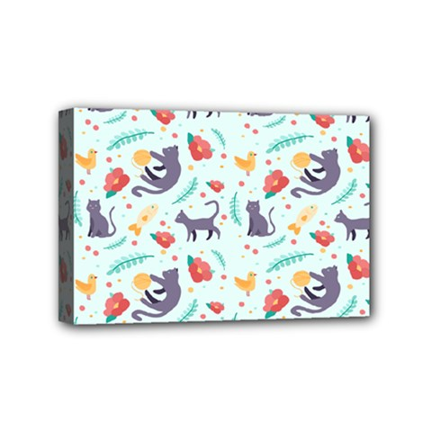Redbubble Animals Cat Bird Flower Floral Leaf Fish Mini Canvas 6  X 4  by Mariart
