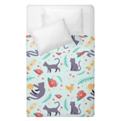 Redbubble Animals Cat Bird Flower Floral Leaf Fish Duvet Cover Double Side (single Size) by Mariart