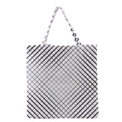 Simple Pattern Waves Plaid Black White Grocery Tote Bag by Mariart