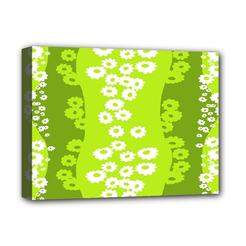 Sunflower Green Deluxe Canvas 16  X 12   by Mariart