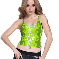 Sunflower Green Spaghetti Strap Bra Top by Mariart