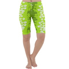 Sunflower Green Cropped Leggings  by Mariart