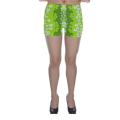 Sunflower Green Skinny Shorts by Mariart