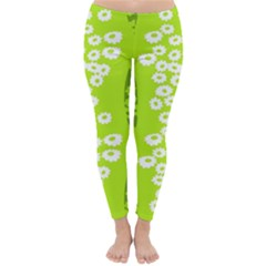 Sunflower Green Classic Winter Leggings by Mariart