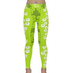 Sunflower Green Classic Yoga Leggings by Mariart