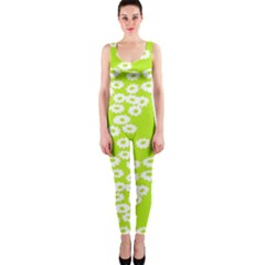 Sunflower Green Onepiece Catsuit by Mariart