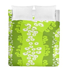 Sunflower Green Duvet Cover Double Side (full/ Double Size) by Mariart